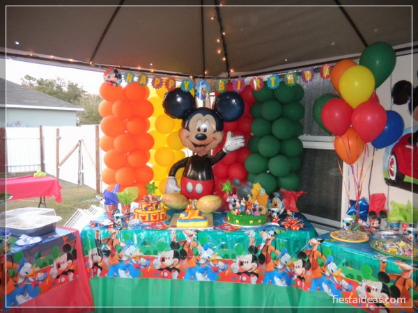 50 ideas de fiesta mickey mouse decoraciones - Fiesta 50 cumpleanos ideas ...