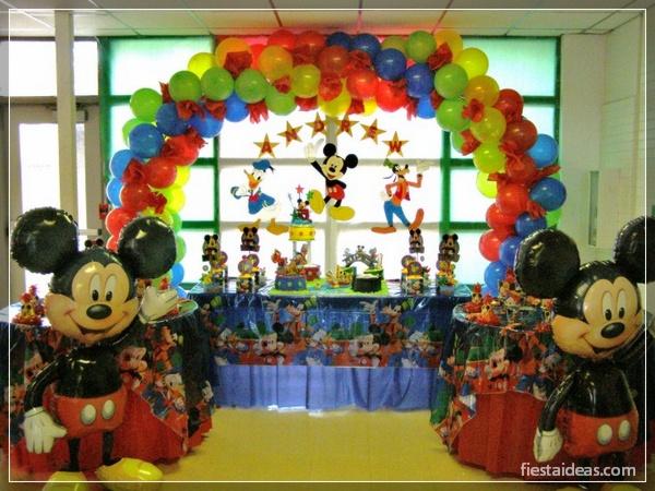 Cumpleanos de mickey bebe decoracion