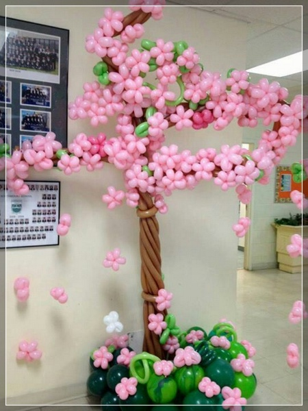 20 decoraciones de flores con globos super creativas for Decoracion con globos