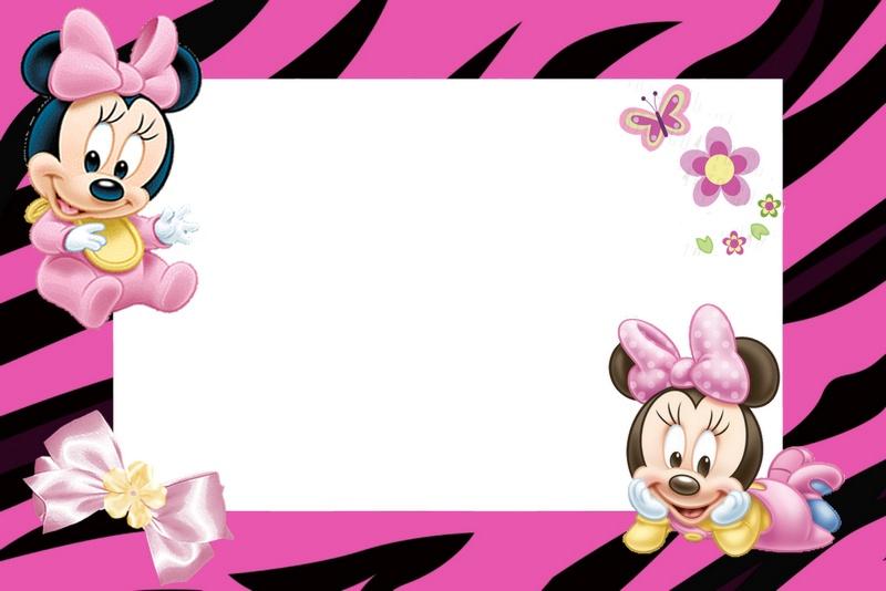 Baby Como Shower De Invitaciones Para Minnie Hacer Mouse