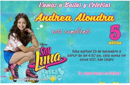 Invitaciones De Soy Luna Personaliza Descarga E Imprime