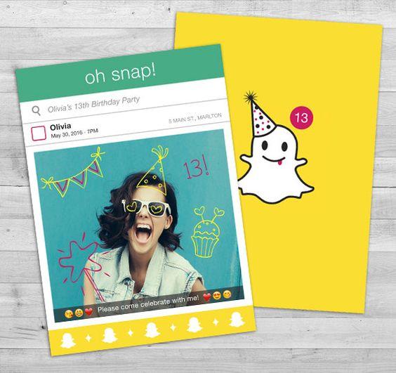 invitaciones con snapchat