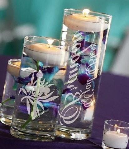 Arreglosde mesa para bautizo con velas