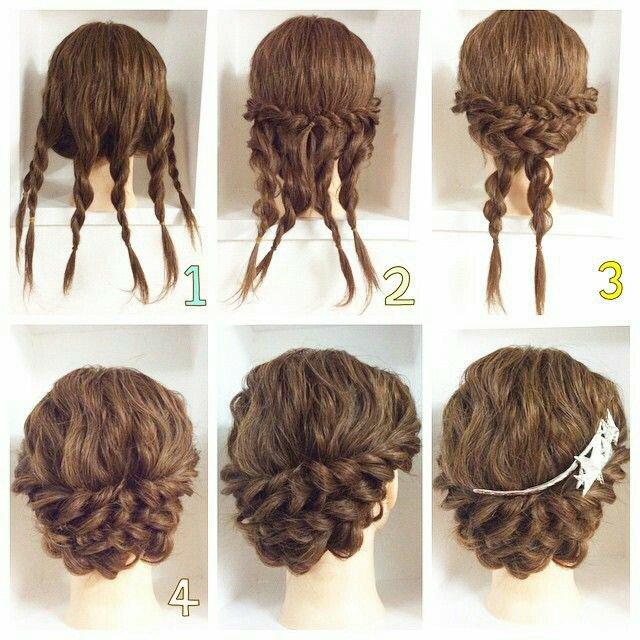 peinado Combinado de trenzas para un moño hermoso