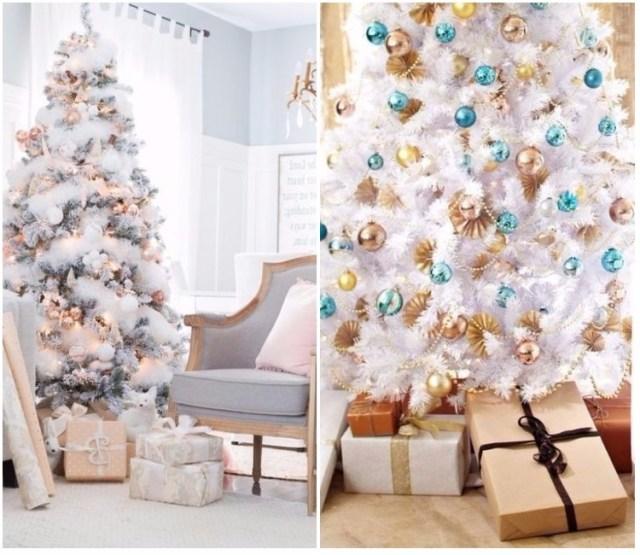 Arbol de navidad decorado originales tendencias 2018 - Arboles de navidad blanco ...