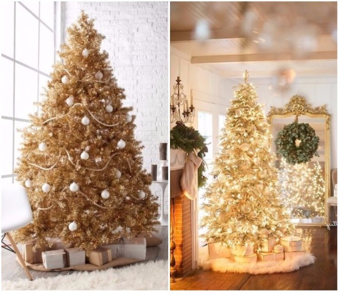 Arbol de navidad decorado originales tendencias 2018 - Arbol navideno blanco decorado ...
