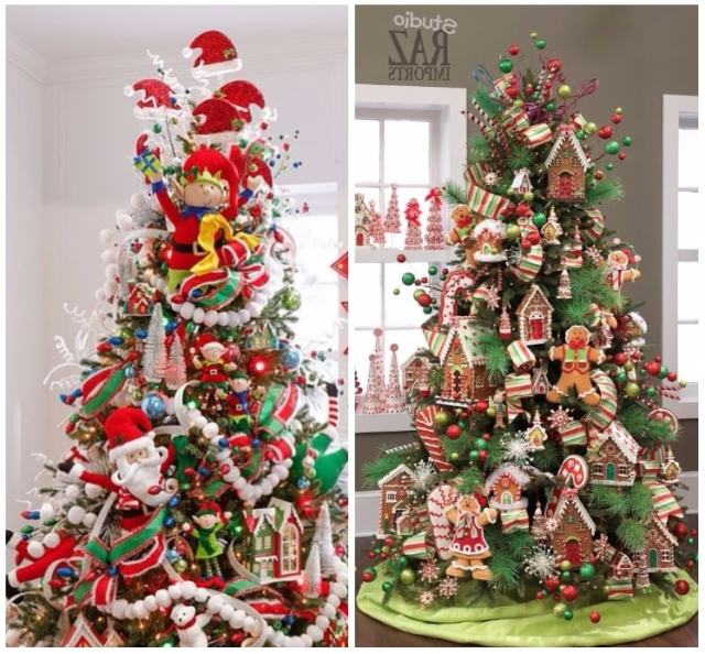 Arbol de navidad decorado originales tendencias 2018 - Arbol navidad colores ...