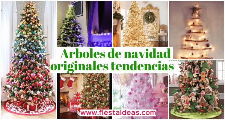 Arbol de navidad decorado Originales tendencias 2018