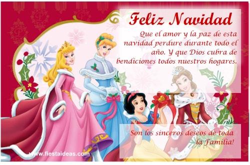 POSTAL VIRTUAL de las princesas disney para imprimir