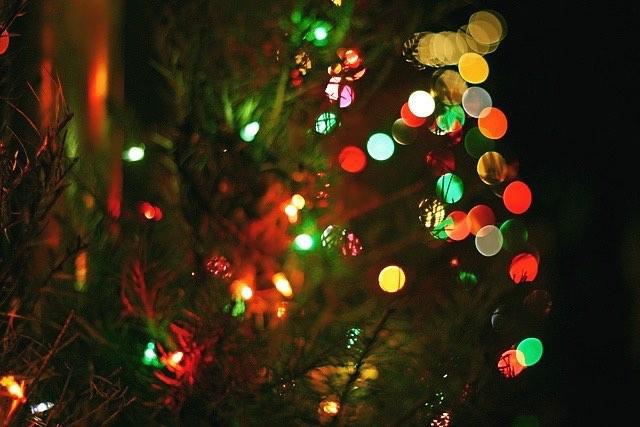 luces para adornar el arbol de navidad