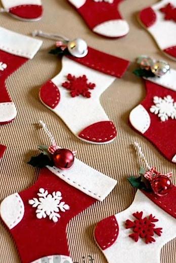 botas de navidad Manualidades en foami
