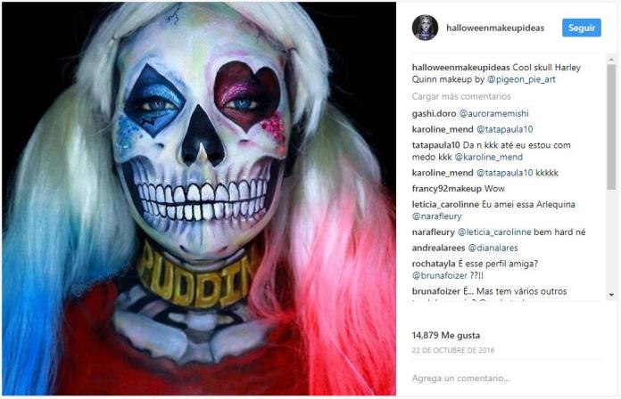 maquillaje Harley Quinnpara halloween