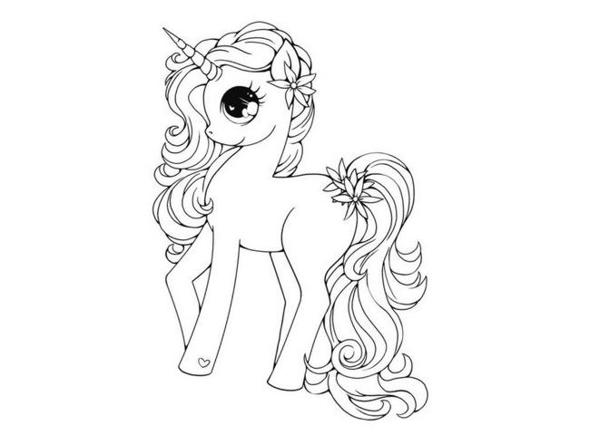 imágenes de unicornios para descargar listas para imprimir y colorear