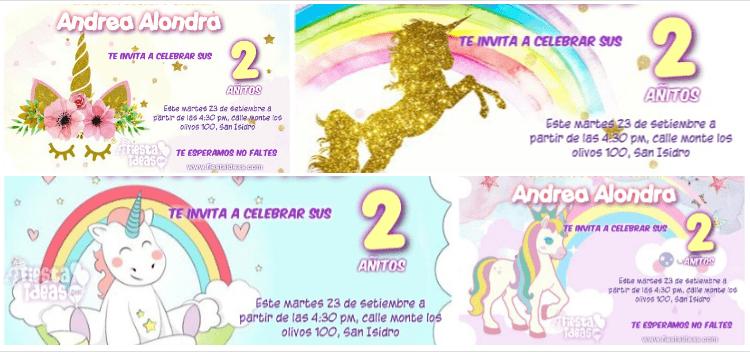 invitaciones de unicornio 7 lindos diseños actualizado 2018