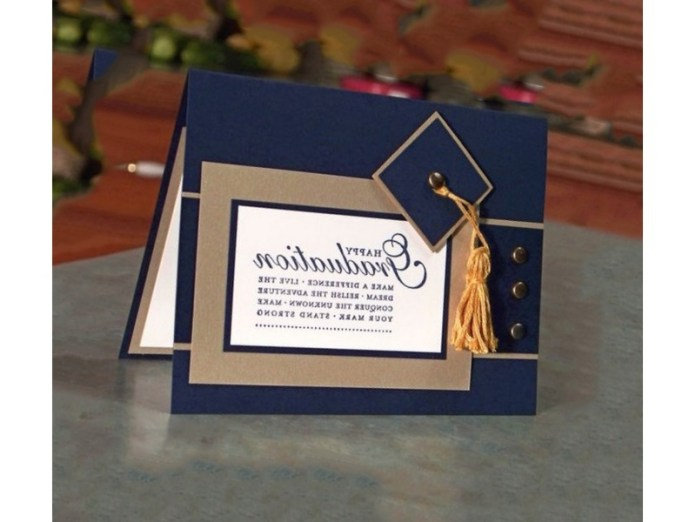 invitaciones de graduación elegantes echas a mano