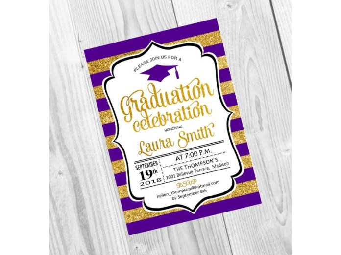 70 invitaciones de graduaci u00f3n