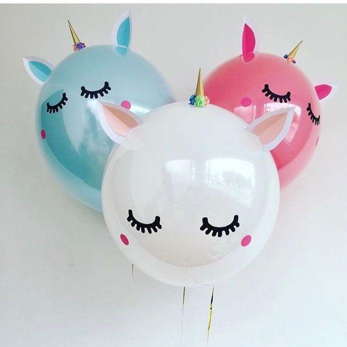 Magica Decoración con globos de unicornios