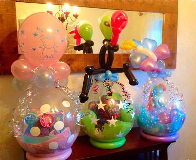 Linda Decoración con globos sorpresa
