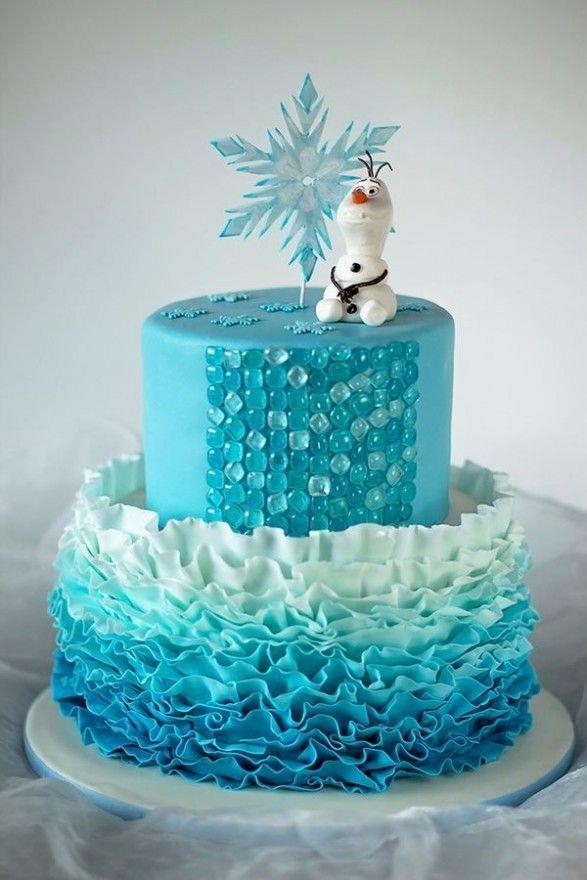 torta de frozen con el personaje Olaf