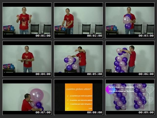 Cómo hacer columnas de globos