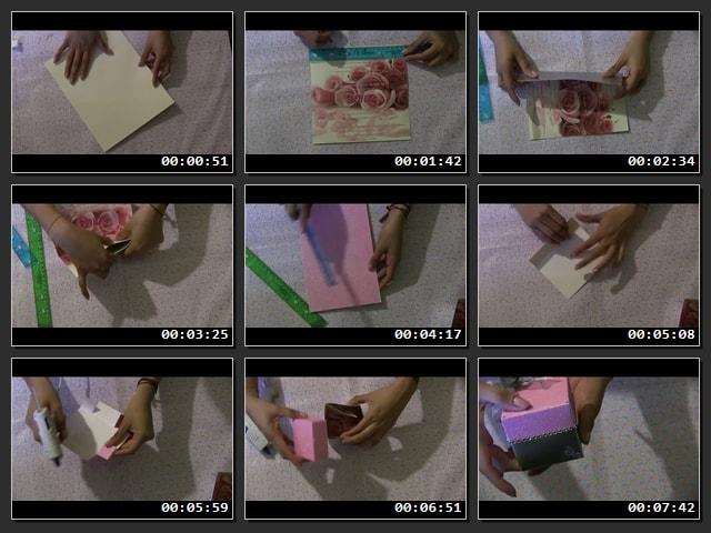 tutorial de Singular invitación con forma de cajita de regalo con vídeo