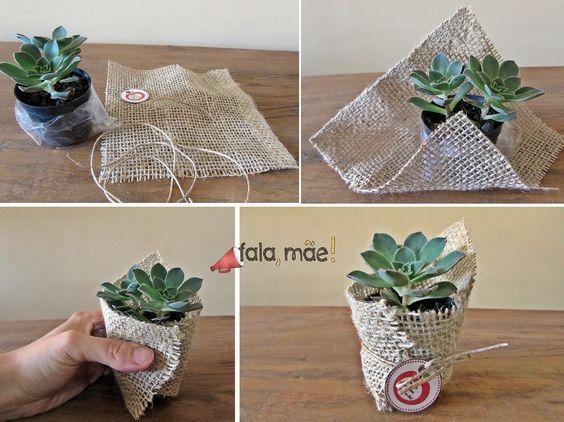 recuerdos para bautizo sencillos con plantas cactus