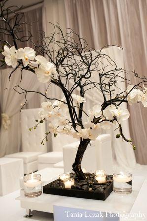 Centros de mesa elegantes ramas