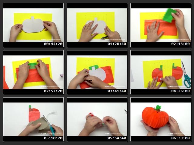 Como-hacer-manualidades-halloween-En papel-crepe