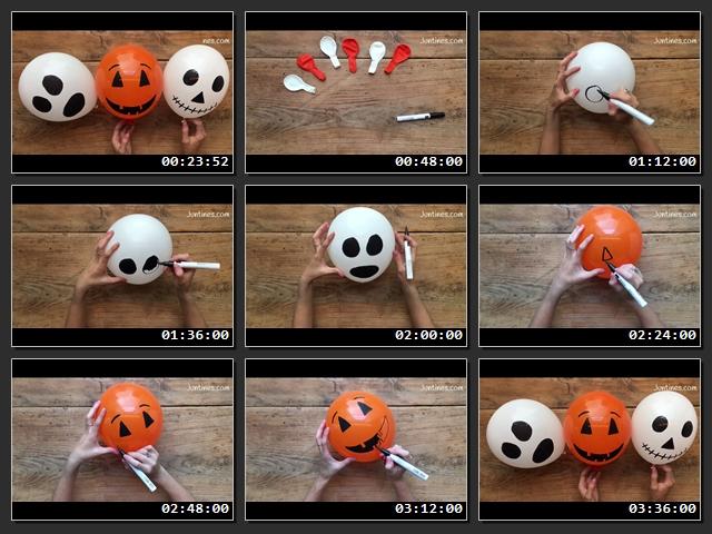 Como-hacer-manualidades-halloween-con-globos