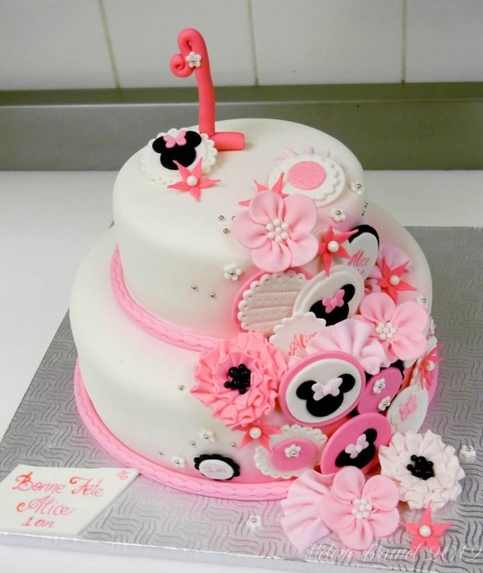 Tortas de Minnie con flores