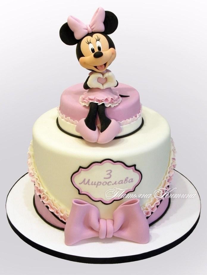 Tortas de Minnie configura y lazos