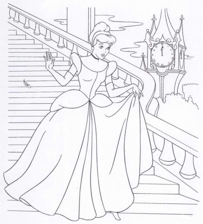 Dibujos para Colorear de Princesas cenicienta