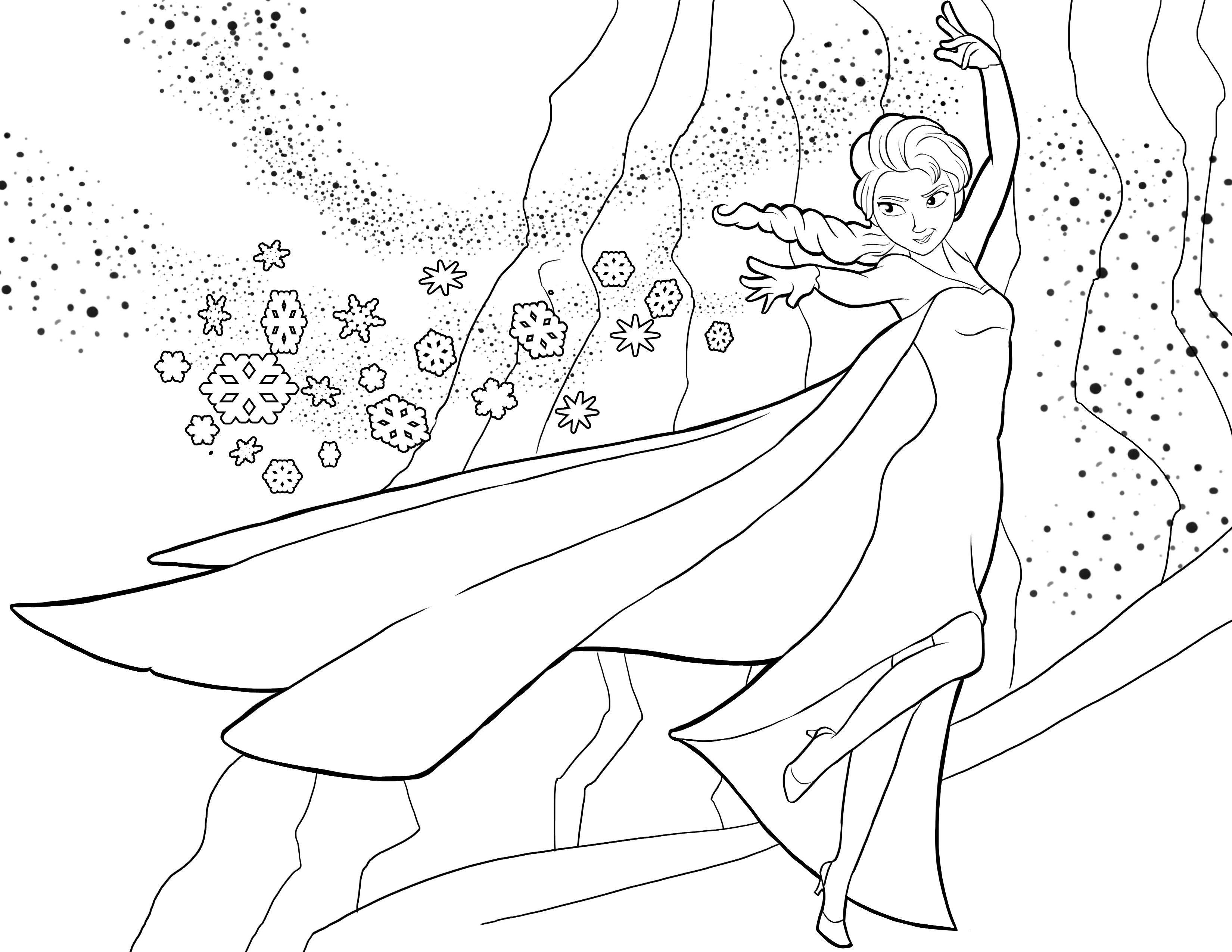 Imagenes De Princesa Elsa Para Colorear