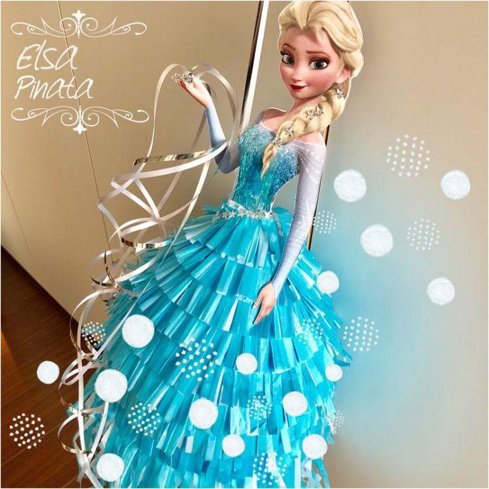piñata de elsa de Frozen