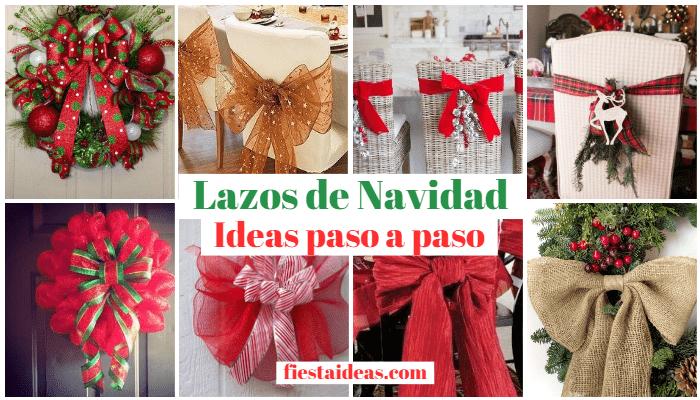 Imagenes Lazos De Navidad.Manualidad De Lazos De Navidad Originales Ideas Para Hacer