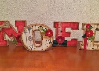 manualidad de Letras navidenas de carton