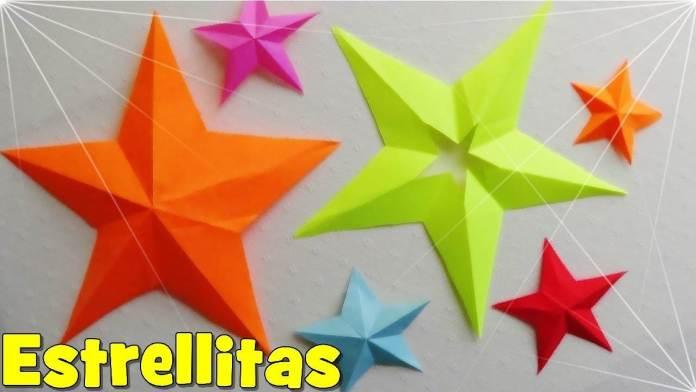 manualidades Estrellas de cartulina para navidad