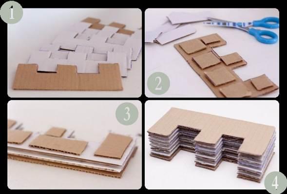 pasos manualidad de Letras navidenas de carton
