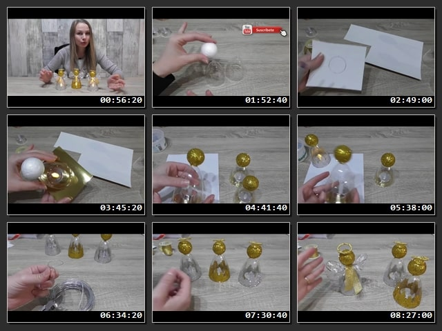 Como hacer adornos de angeles con copas plasticas