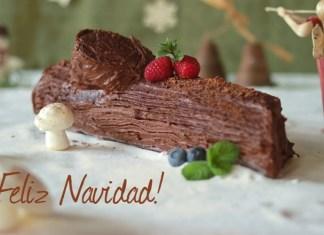 Receta Tronco navideno de chocolate decorado
