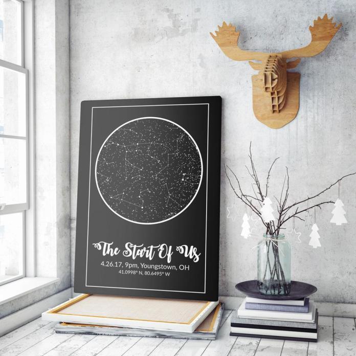 regala a tu novio un mapa estelar