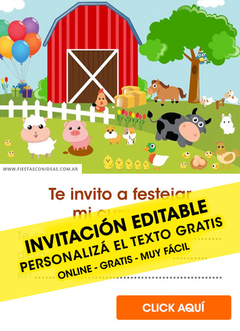 free farm animals birthday invitations