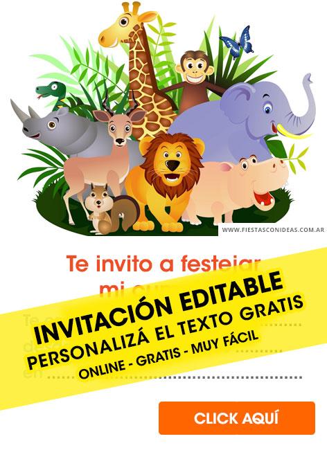 8 free safari animals birthday