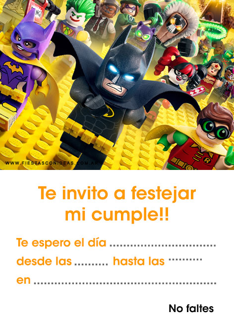 6 free batman birthday invitations for