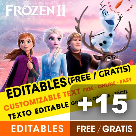 15 free frozen 2 birthday invitations