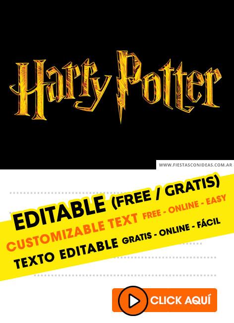 free harry potter birthday invitations