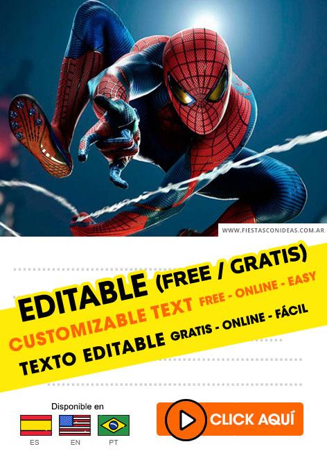 55 free spiderman birthday invitations