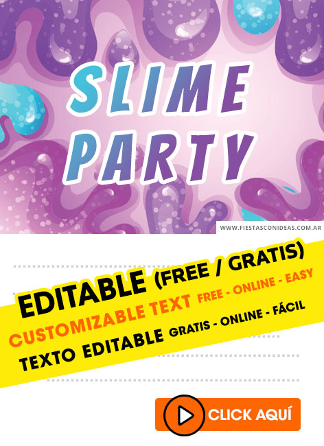 free slime party birthday invitations