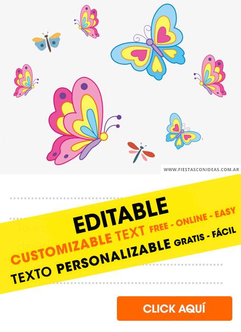 6 free butterfly birthday invitations