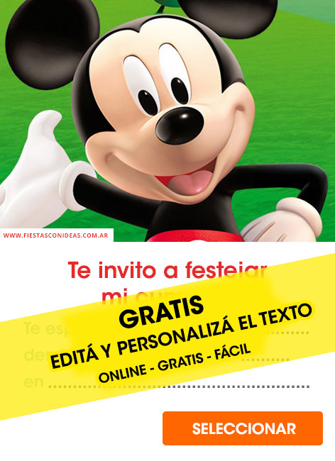 free mickey mouse birthday invitations